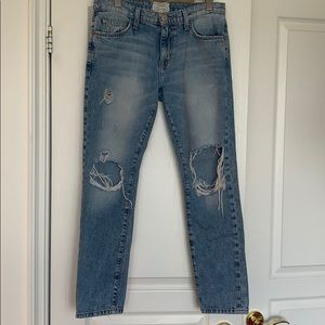 👖Current/Elliot ripped jeans👖